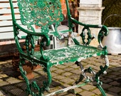 RESERVED** Vintage Cast Garden Chair, shabby, vintage, cottage garden, vintage look, vintage garden
