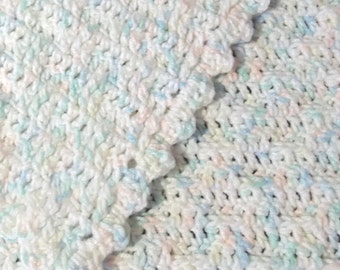 Pastel Crochet Baby Blanket