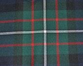 Ferguson Tartan Fabric. Modern Available. 100% 10oz Pure New Wool. Remnant Piece.