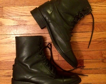 Black Vintage Roper Boots Womens 8 1/2 Ankle Boots Perri's