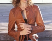 Cognac Brown Nappa Leather Jacket