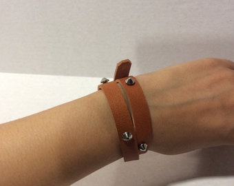 Tan Leather Bracelet/Leather Jewelery For Girls  Bracelets LeatherBracelets For Women/Black Leather Bracelet/Leather Jewelery For Girls