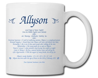 Name meaning etsy first name meaning 11oz coffee mug a great gift for birthdays holidays negle Choice Image