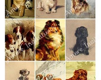 Printable Digital Vintage Dogs Collage Sheet  Clip Art  ATC  JPEG  PDF  Instant Download  Downloadable  Cu  Commercial use