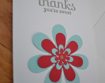 Handmade Thank You Notecards