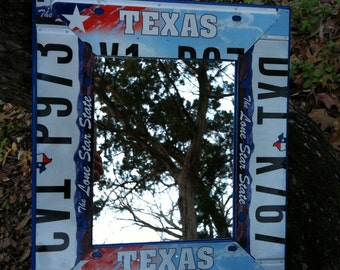 License Plate Art Mirror