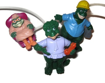 Dinosaurs figures Earl, Ethyl, Charlene SInclair 90s 1990s toys action figure TV sitcom