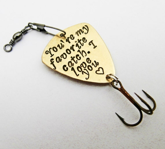 personalized fishing lure fisherman gift my best catch hand