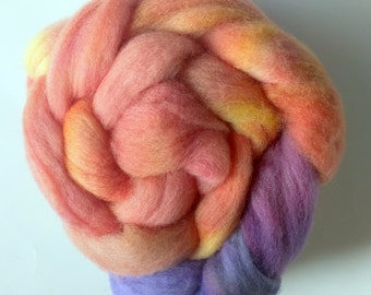 Sunset C 3.8oz Handpainted Polwarth Spinning Fiber