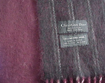 Christian Dior Men's Merino Wool Scarf