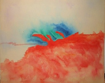Vintage abstract water color