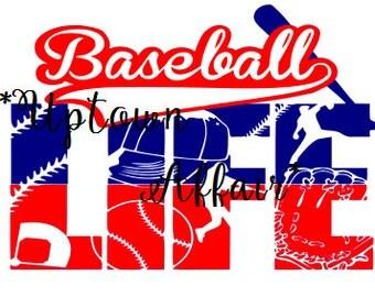 Baseball Life SVG digital cut file