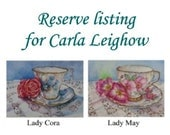 Reserve Listing for Carla Leighow