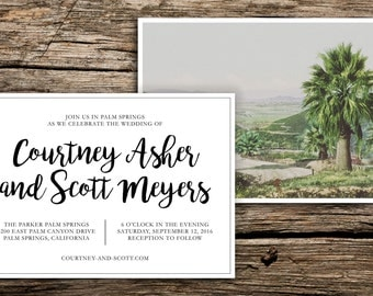 Palm Springs Wedding Invitation Suite // Modern Boho Wedding Invitations Palm Springs Coachella Riverside Palm Desert Cards