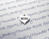 Antique Silver Plated Mimi Charm Message Word Heart