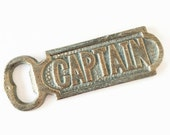 Gift for Boater. Patina Captain Bottle Opener. Nautical Beer Opener. Nautical Bar Accent. Groomsmen Gifts. Beach House Decor.