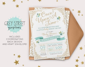 Elegant Once Upon A Time Baby Shower Etsy, Baby Shower Invitations