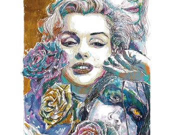 Roses for Marylin - giclee print on paper