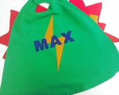 Boys personalised, bespoke Flash cape for children