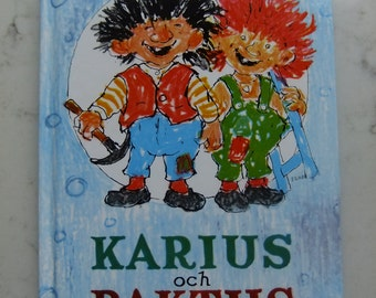 Vintage Swedish childrens book - Karius and Baktus - A story of trolls teeth