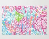 Lilly Pulitzer fabric Lets Cha Cha 9 X 18 inches or 18 X 18 inches
