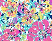 Lilly Pulitzer fabric  Besame Mucho 9 X18 inches or 18 X 18 inches