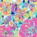 Besame Mucho cotton poplin  9 X18 inches  Lilly Pulitzer  signature fabric