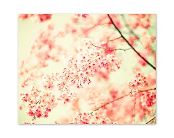 Canvas art, large wall art, blush pink wall art, flower print, wall art canvas, bathroom wall art,cherry blossom,nursery decor girl,wall art