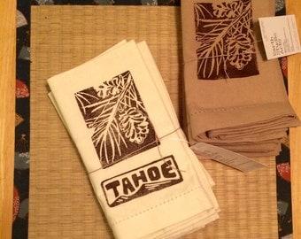Pine Cone napkins Set of 4