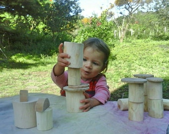 Waldorf Tree blocks / Building blocks / Tree Blocks set / Wood blocks