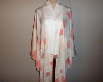 Vintage nagajyuban - Polka dots, Rinzu silk