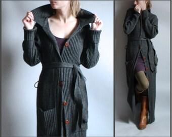 Long Maxi Sweater Cardigan Dress Full Floor Length