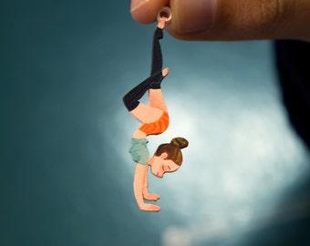 Handstand Yogi Necklace