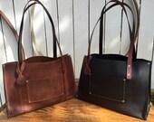 The Elerie Leather Handbag* Handbag* Small Purse* Soft Leather Handbag* Black Leather Purse* Brown Leather Purse* Handmade in the USA