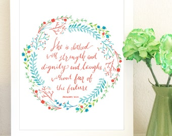 Proverbs Mother's Day Print