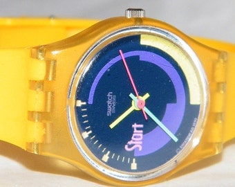 Vintage Swatch Pink Podium LK119 Spring Summer Swiss Watch