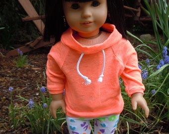 American girl doll cowl neck top and leggings outfit