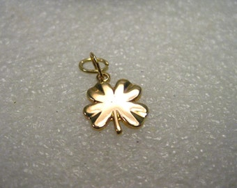 Gold Filled Four Leaf Clover & Star Charms, set of two