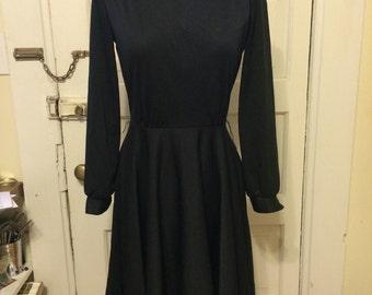 1970s Black Disco Dress sz s