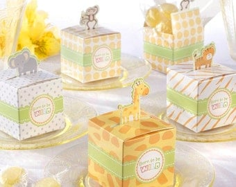 Jungle Themed Baby Shower Favor Boxes; Safari Themed Baby Shower; Fisher Price Shower; Unique Favor Boxes; Animal Themed Shower; Table Decor