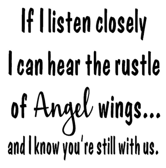 Rustle of Angel wings - Quote - Vinyl Wall Decal