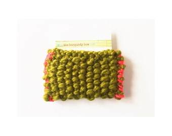 Knit Card Holder, Knitted ID Case, Knit Business Card Holder, Knitted Wallet