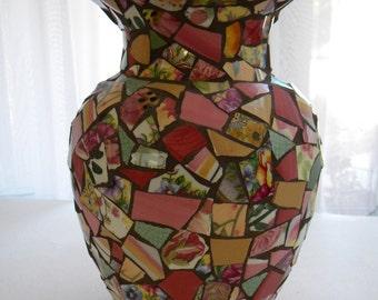 Floral Mosaic Vase