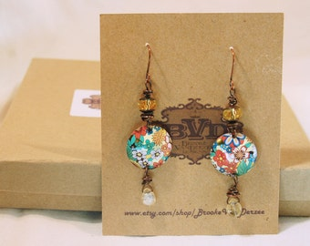 upcycled tin earrings