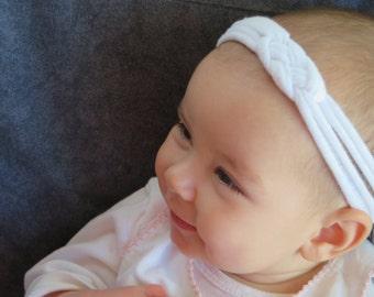 Celtic knot baby headband white cute hair bando sailor