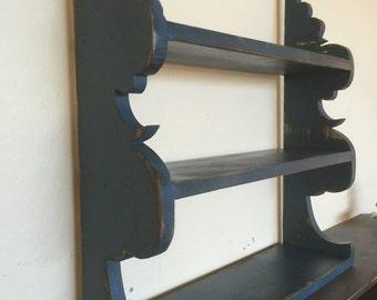 French country wall shelf, cottage chic shelf, wall shelf, kitchen shelf, victorian wall shelf, antique style wall shelf,Scroll design shelf
