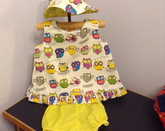 Size 1 Swing dress covered in owls!