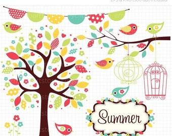 ON SALE - Summer Garden Clip Art / Digital Clipart - Instant Download