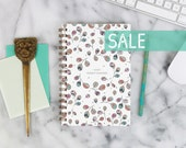 """SALE! 2016 Weekly Planner """"Leaves"""" with monthly spreads, back pocket, stickers, adhesive tabs and more"""