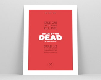 Shaun of the Dead ~ Movie Poster, Film Gift, Art Print by Christopher Conner